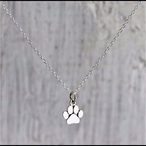 Jewelry - 🆕🐾  Super Cute Silver Paw Necklace 🐾